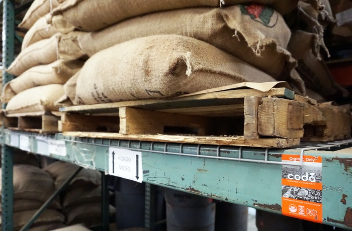 Bags of Coda Coffee Beans