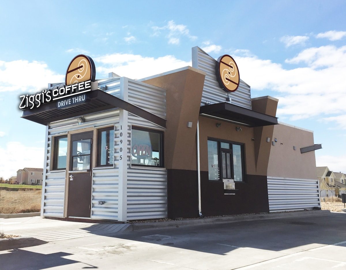 Ziggi's Coffee franchise drive-thru building
