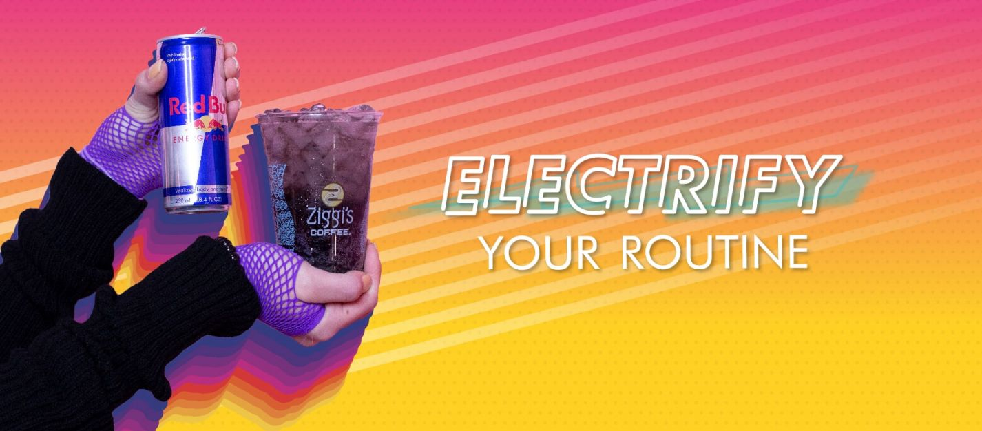 Electrify Your Routine With a Red Bull Infusion at Ziggi's Coffee! blog image