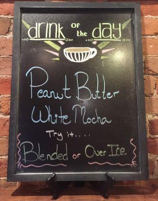 Drink of the Day board at Ziggi's Main Street