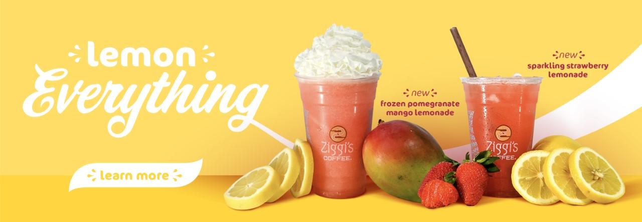 Lemon Everything options at Ziggi's Coffee