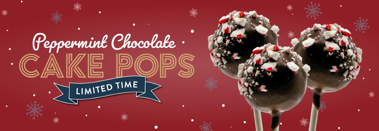 Limited time Peppermint Chocolate Cake Pops