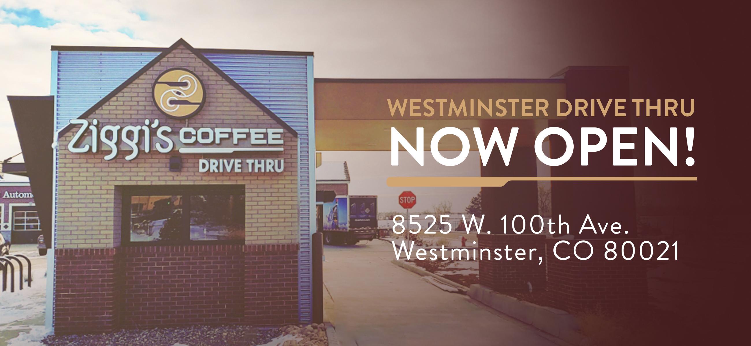 Photo of new Ziggi's Coffee Westminster drive thru location
