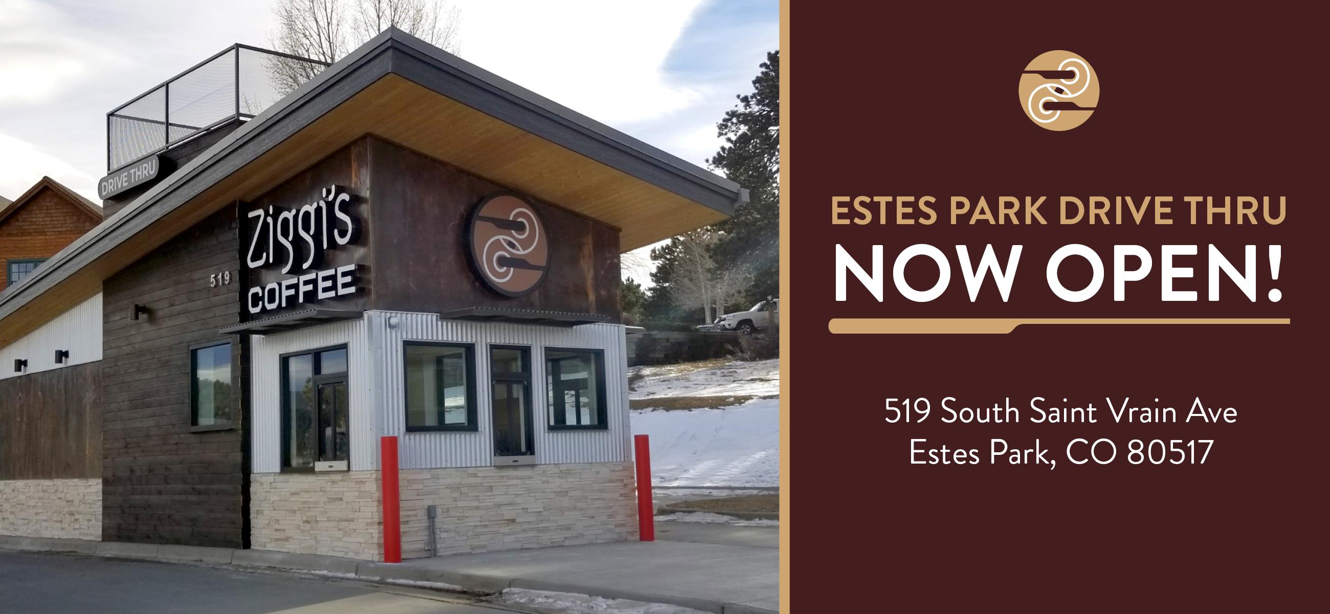 Photo of the new Ziggi's Coffee Estes Park drive thru location