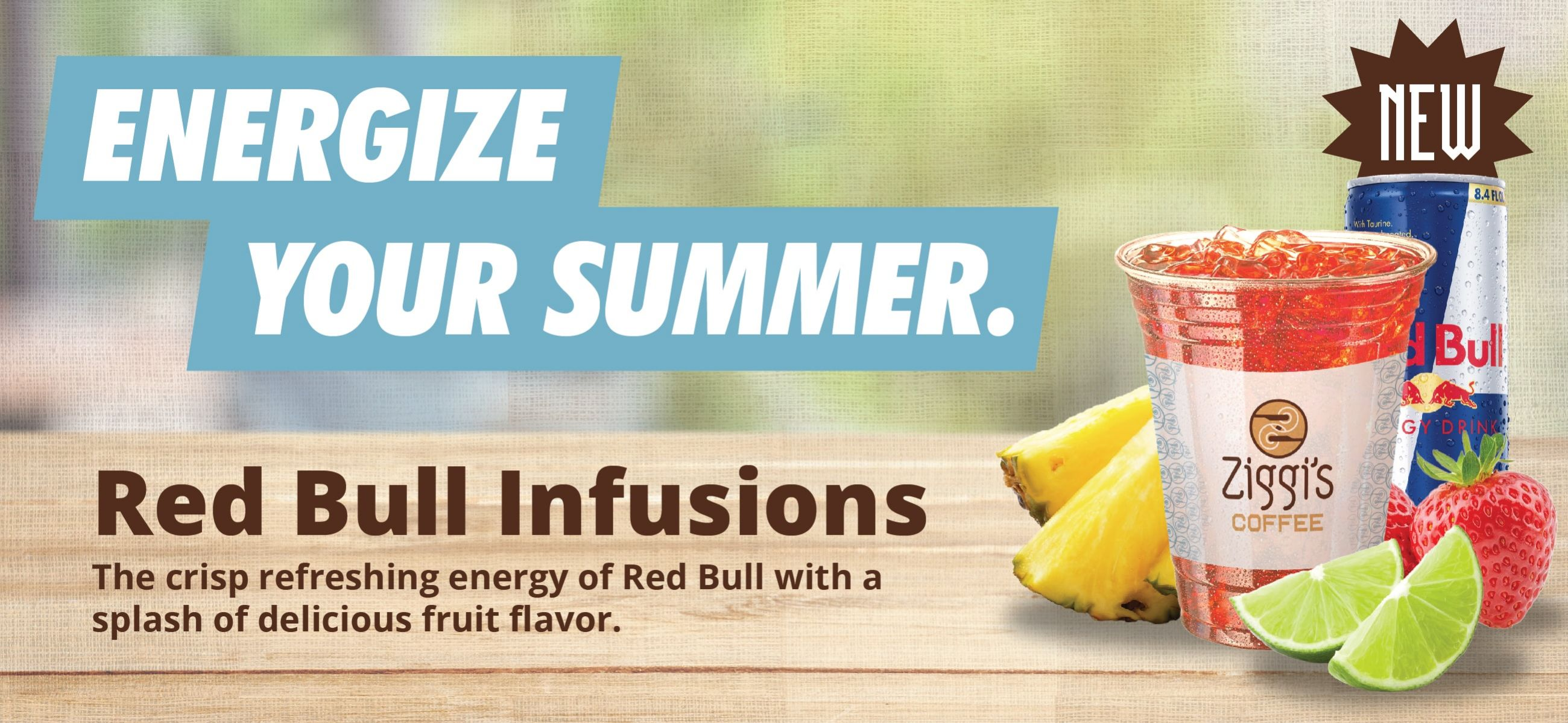 Red Bull Infusions available at Ziggi's Coffee