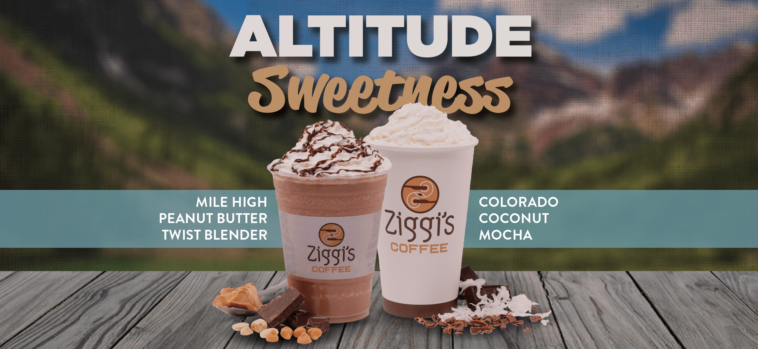 Altitude Sweetness | Photos of a Colorado Coconut Mocha and Mile High Peanut Butter Twist