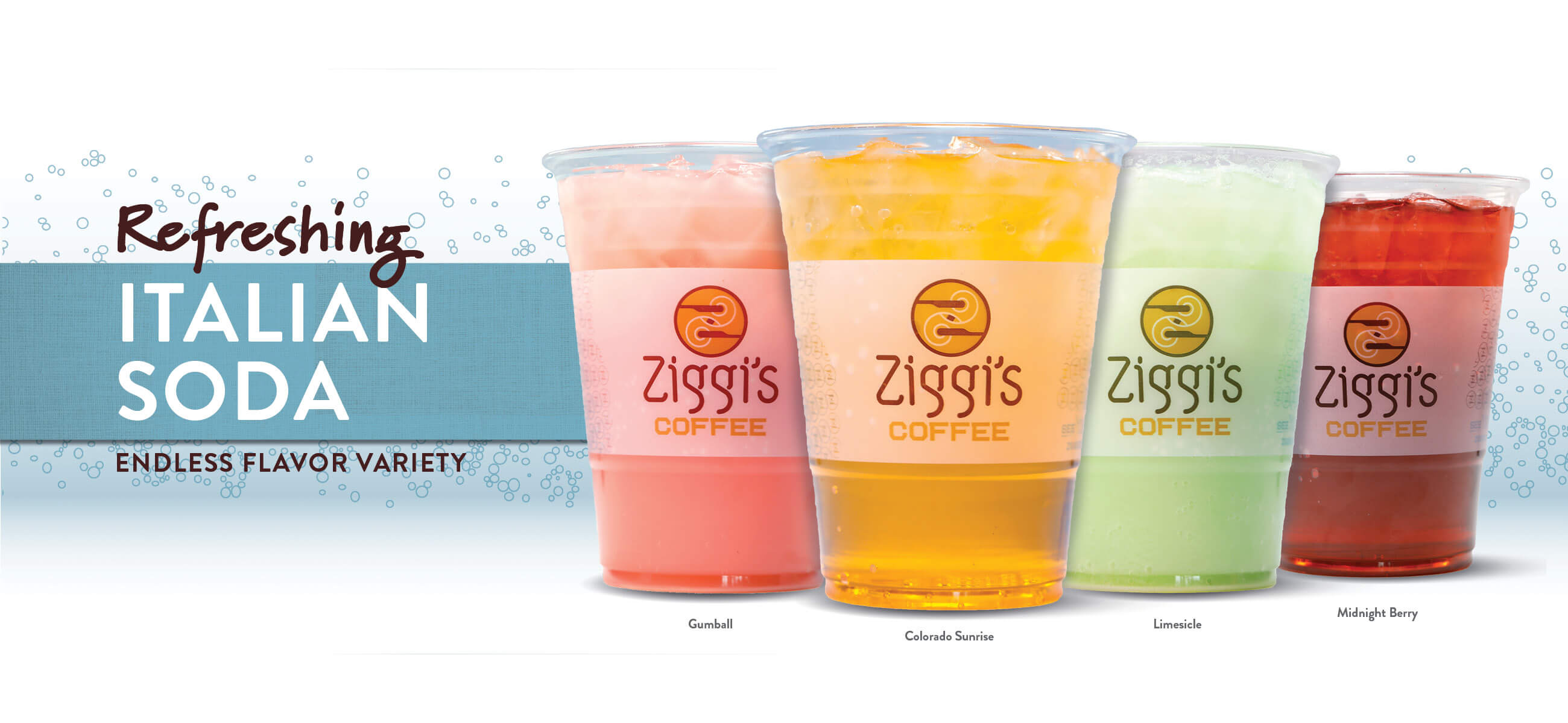 Hero photo of Ziggi's Coffee Signature Italian Soda Flavors