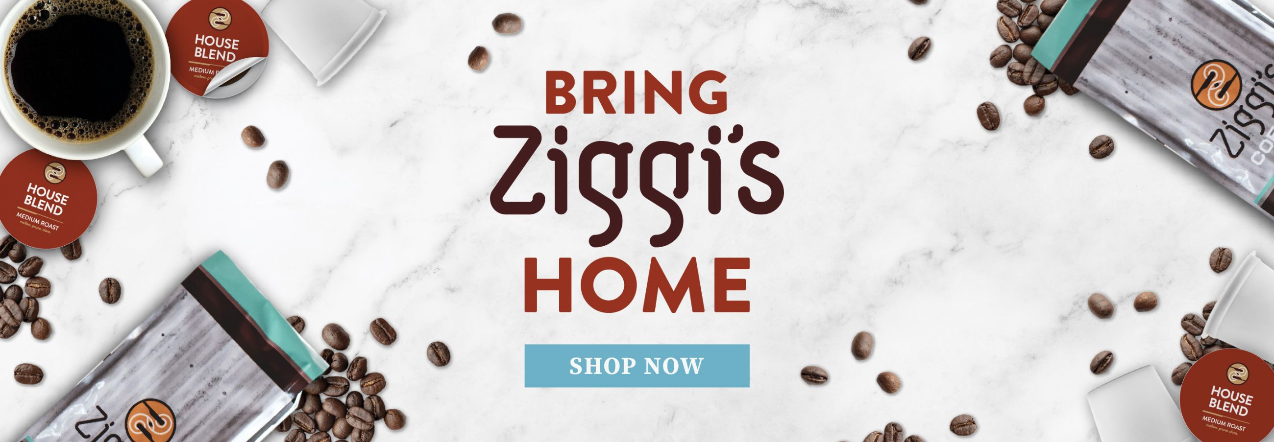 Enjoy Ziggi's medium roast house blend from the comfort of home in our single serve pods
