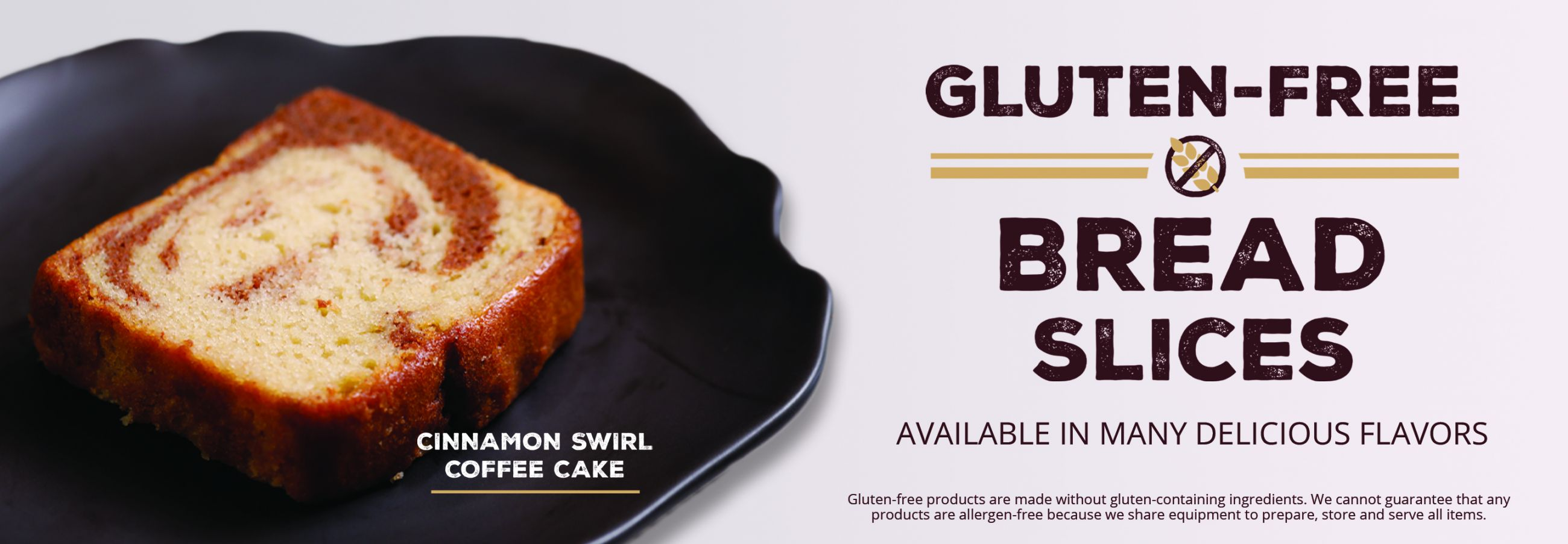 Diverse menu of delicious food items including a variety of gluten-free bread slices