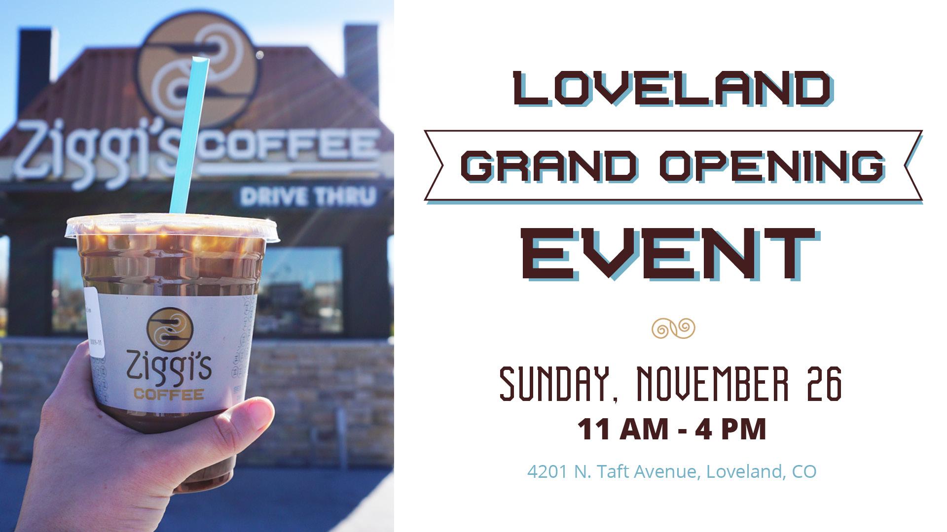 Ziggi's Coffee Loveland Grand Opening Event